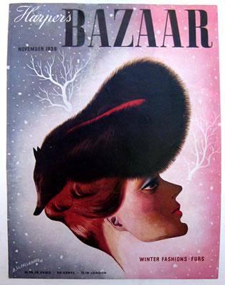 Harper's Bazaar November Fur Hat