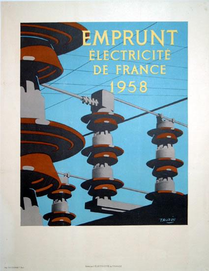 Electricite de France 1958 (Emprunt)