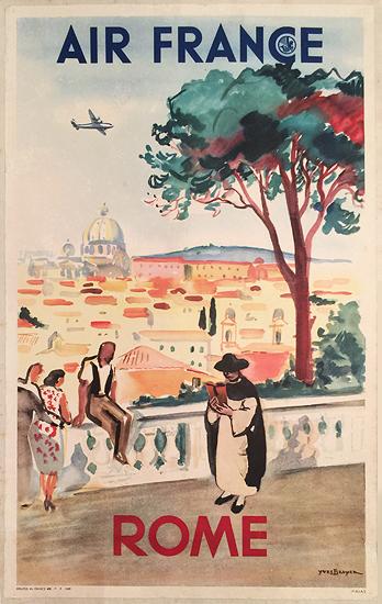 Air France Rome (1/4 Sheet)
