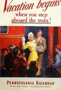 Pennsylvania Railroad Vacation  Begins