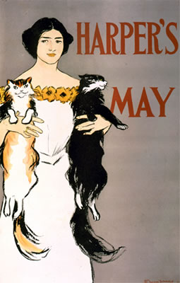 Harper's - May (Woman & Cats)