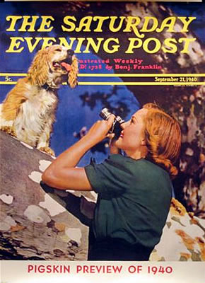 Saturday Evening Post - Pigskin Preview of 1940