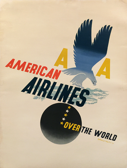 American Airlines Over the World Eagle Kauffer