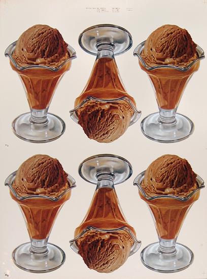American Die Cut- Chocolate Ice Cream