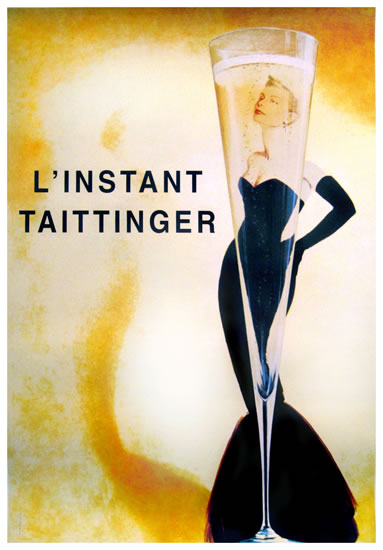 Taittinger Champagne (Woman in Black Dress)