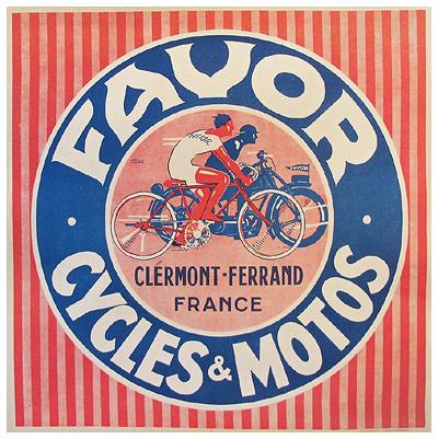 Favor Cycle & Motos (Stripes)