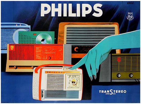 Philips Radios Blue Hand
