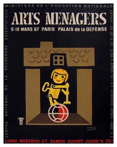 Arts Menagers (Black & Gold/ 15x20)