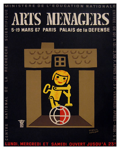 Arts Menagers (Black & Gold/ 15x20)