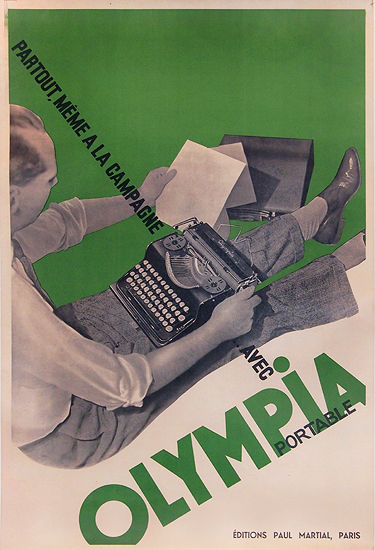 Olympia Typewriter (Green)