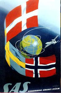 SAS - Globe and Flags