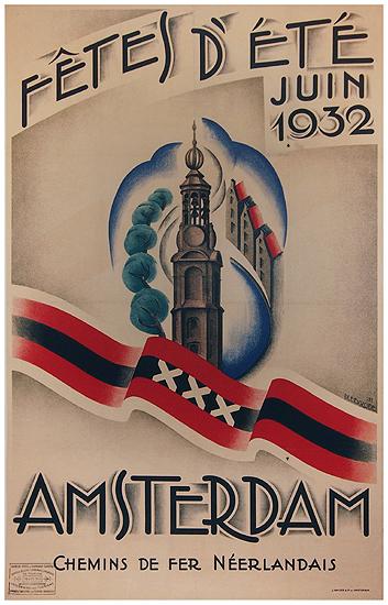 Amsterdam Fetes D'Ete Juin 1932