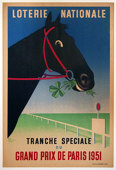 Loterie Nationale Grand Prix 1951 (Horse & Clover)