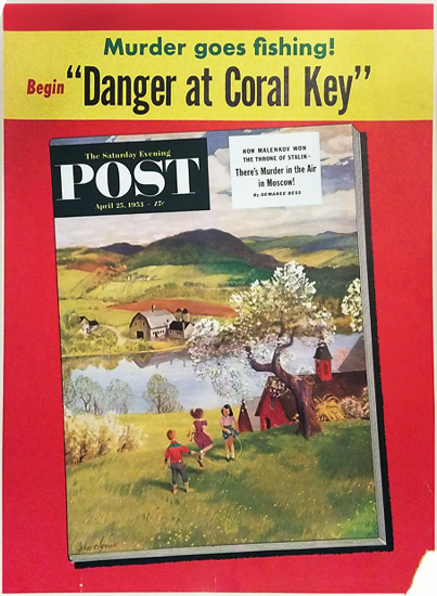 Saturday Evening Post  Danger Coral Key