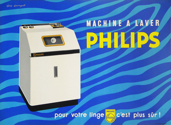 Philips Washing Machine (Blue Stripes)