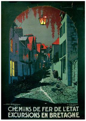Bretagne - La Rue du Jerzual a Dinan