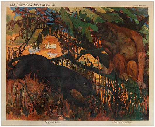 Animal Panel - Ape and Panther
