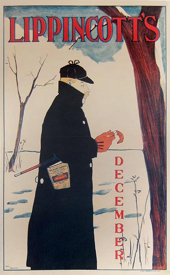 Lippincott's - December (Man with Cane)