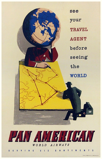 Pan Am See Your Travel Agent Before Seeing the World (Globe)
