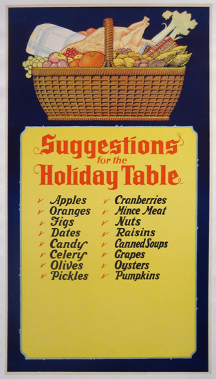 Suggestions at the Holiday Table