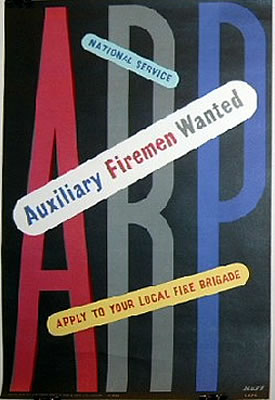 ARP - Auxiliary Firemen Wanted