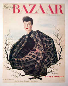 Harper's Bazaar Cover - Woman in Plaid