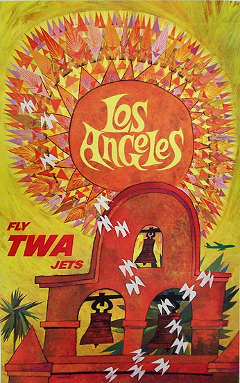 TWA Los Angeles  (Mission Bells & Sun)