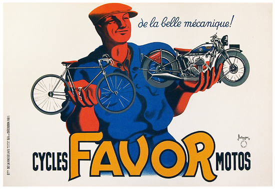 Favor Cycles/Motos (Horizontal/LARGE)