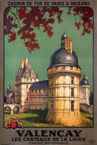 Chemin De Fer De Paris A Orleans Valencay Les Chateaux de La Loire