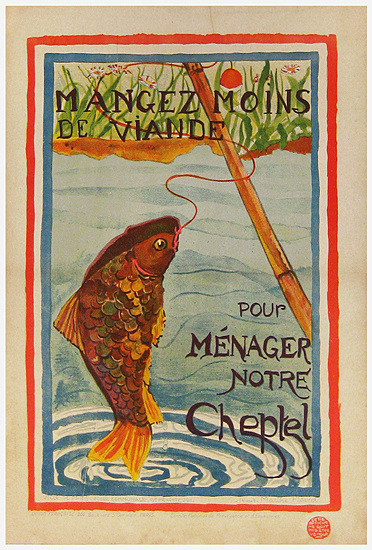 French School Children Series Mangez Moins (Fish)