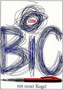 Bic (Blue Scribbles)