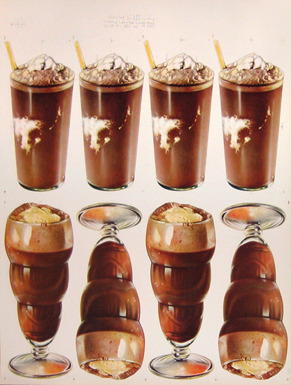 American Die Cut Chocolate Milk Shakes