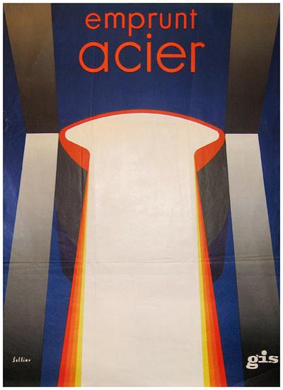 Emprunt Acier (Abstract Column)