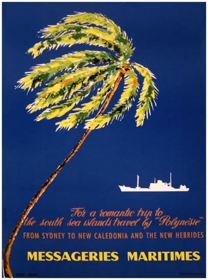 Messageries Maritime Sydney (Palm Tree/Blue)