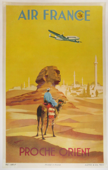 Air France Proche Orient (Yellow/ 1/4 Sheet)