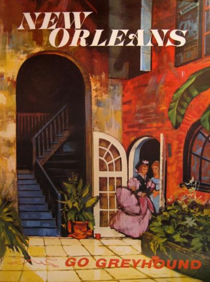 Go Greyhound New Orleans (30in x 40in)