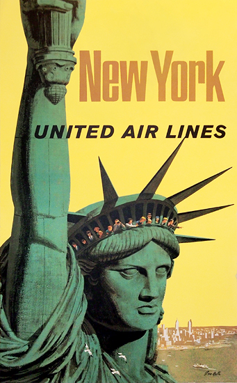 United Airlines - New York (Galli Statue of Liberty)