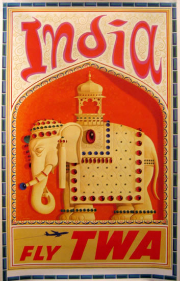 TWA - India (Orange)