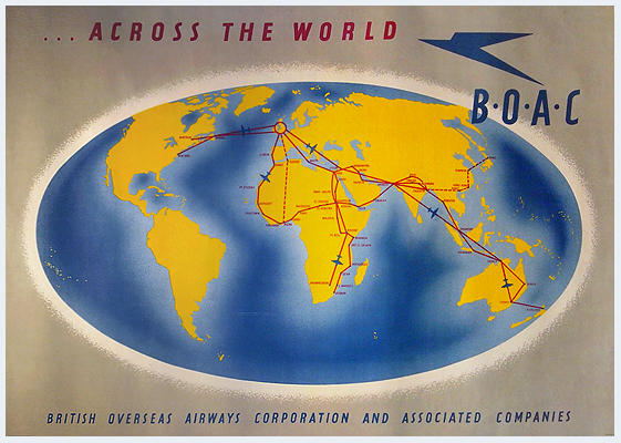 BOAC….across the world