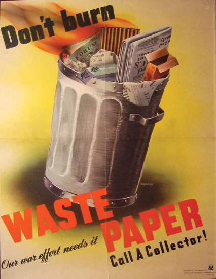 Don't Burn Waste Paper - Call a Collector!