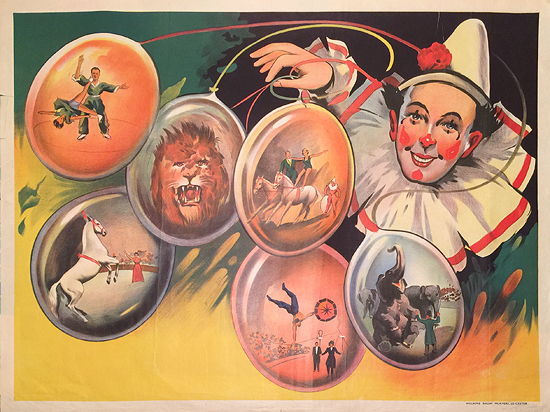 Circus Poster (Balloon Clown)