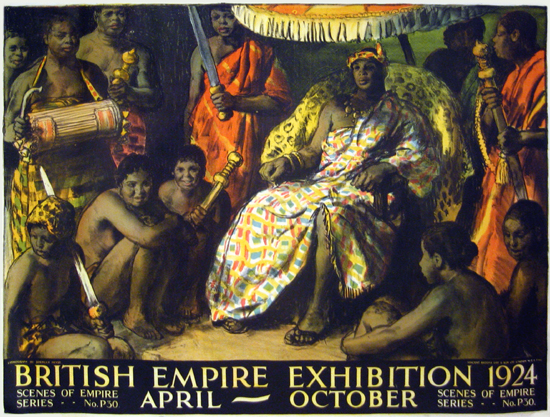 British Empire Exhibition 1924 - (Gold Coast King of Ashantis)
