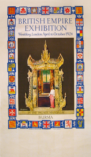 British Empire Exhibition 1924 - Burma - Palace Mandalay
