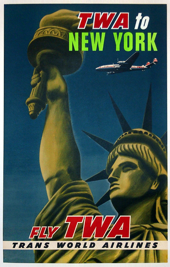 TWA New York (Statue of Liberty/Blue&Green)