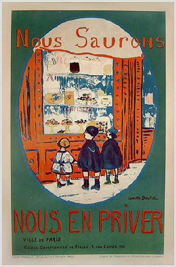 French School Children Series - Nous Saurons-Candy Shop