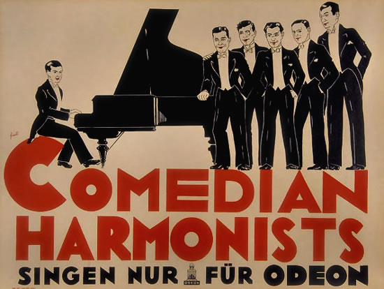 Comedian Harmonists Sing for Odeon