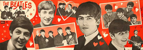 The Beatles - Dell Magazine Poster Insert (With Text)