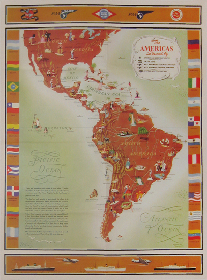 The Americas  Pan Am Map