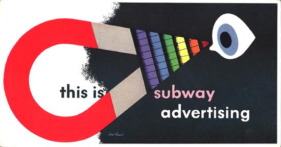 Mini Subway Car Card <br>No. 08 - This is Subway Advertising