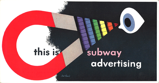 Mini Subway Car Card <br>No. 08 - This is Subway Advertising